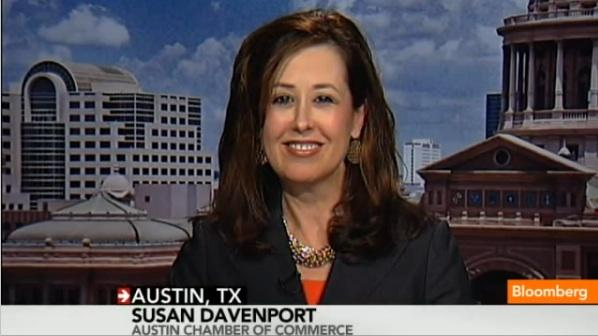 Susan Davenport spoke with Bloomberg News in March about the business of the South By Southwest festival.