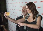 Martin Cooper won the Maverick Innovator award for his invention of the cell phone gets in on the Cinequest host's selfie.