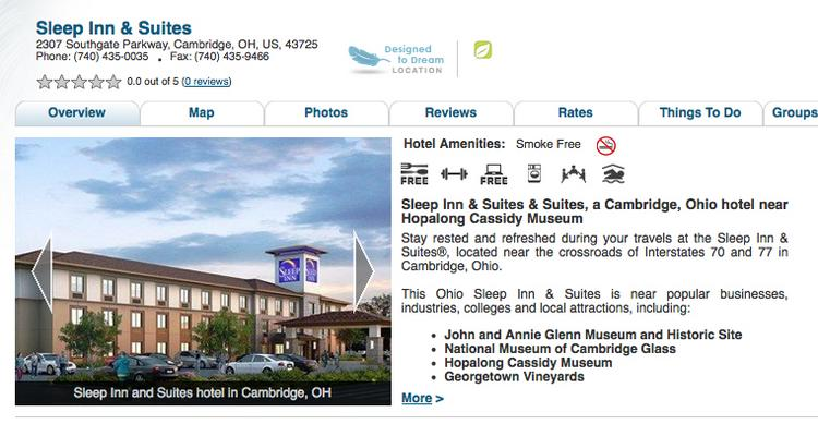 A 71-room Sleep Inn & Suites has opened in Cambridge.