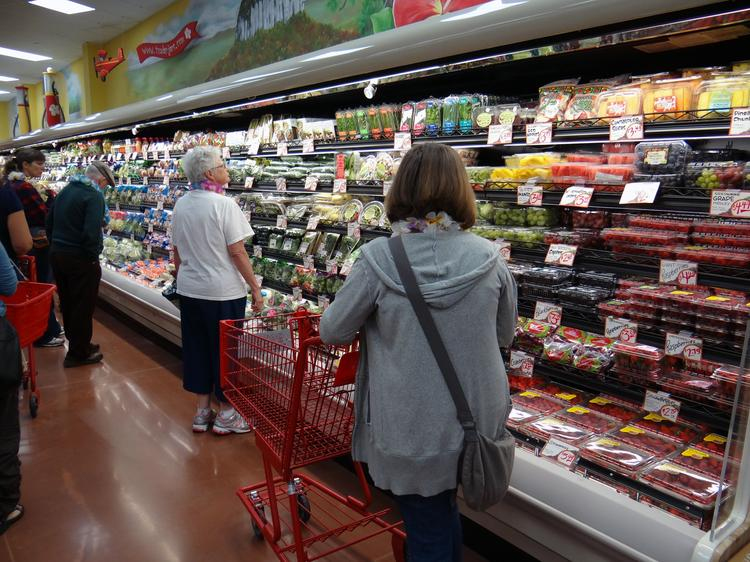 Shoppers at the Trader Joe's in Winston-Salem.