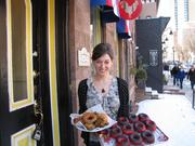Partner Felicia D'Ambrosio at Federal Donuts' third year-round location, at 3428 Sansom St. in University City. It will open March 10.