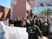 The Bricklayers union were among those that gathered for a ceremony.