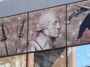 The $118 million Museum of the American Revolution will be built on the site of the former visitor center, which has a mural featuring George Washington.