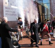 The $118 million Museum of the American Revolution, which is planned for Third and Chestnut streets in Philadelphia's historic district, is ready to start demolition of the old visitor center on the site. A ceremony marked the occasion on March 5.