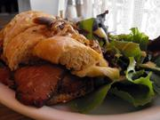 Hot roast beef with caramelized onions and Brie at Cafe Rolle.