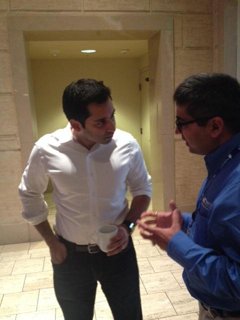 Krishna Yeshwant, a partner at Google Ventures, goes one-on-one after his presentation Wednesday at Autism Speaks' Autism Investment Conference.
