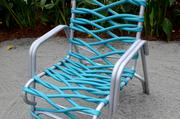 Ever wanted to make a lawn chair out of a garden hose? Now you know how.