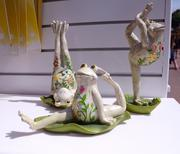 Yoga frog ornaments, just in case things weren't weird enough
