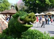 A topiary Pumba in a new Lion King display.