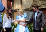 Alice gets friendly. Did she visit the margarita stand?