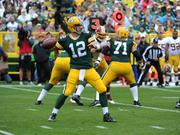 Aaron Rodgers, quarterback of the Green Bay Packers, ranks in the top five in NFL player retail merchandise sales.
