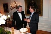 Gilles Noghes, Monaco's ambassador to the U.S., left, and Rep. Ed Royce, R-Calif.