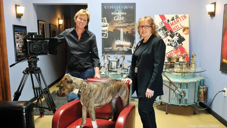 GreyHawk Films owners  Joanne Hock (left) and Robin Grey at their film-production space in NoDa.
