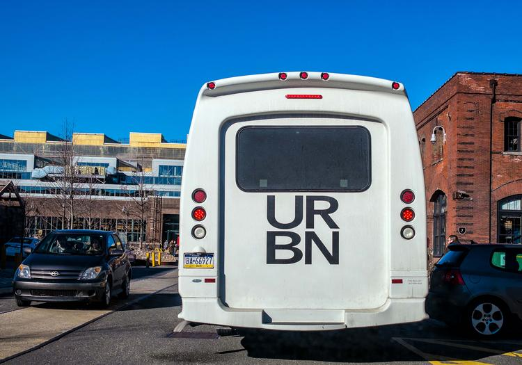 Urban Outfitters' Navy Yard shuttle.