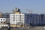 Apartment construction looking north from Union Station.