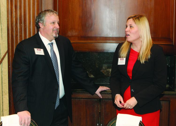 Here's what you missed at Thursday's VisionPittsburgh, hosted by the Pittsburgh Business Times and held at the Duquesne Club in downtown Pittsburgh. Here, EHS Support LLC's Kenny Ogilvie and Katie Stern talk.