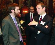 Dan Gillman, left, of Pittsburgh City Council and James Scott of Oxford Realty Services Inc.