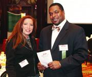 BCC Consulting Group's Sharon Carolla and UPMC Health Plan's Dwayne Coker.