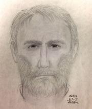 This is a composite sketch of the suspect sought in the death of Ruthann Lodato in Alexandria.