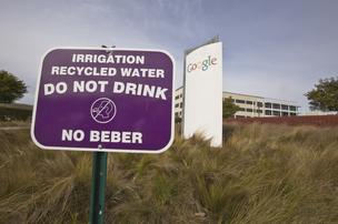 Google uses about 15 million gallons of recycled water a year on the Mountain View campus. Overall the campus uses 110 million gallons.