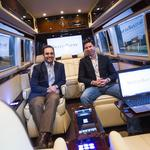 A Benz bus for office seekers