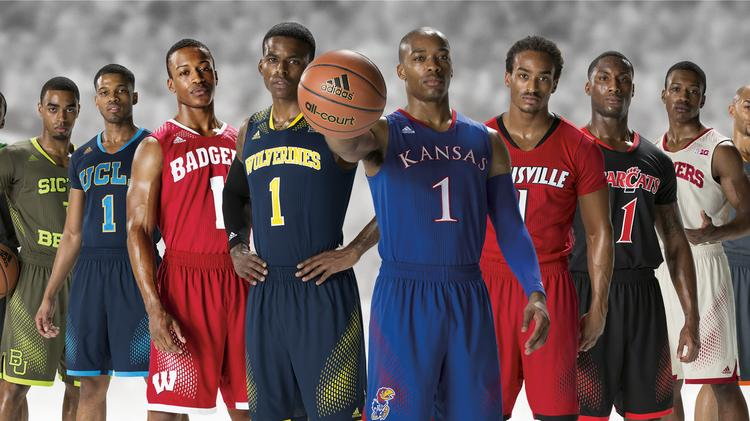 Adidas NCAA basketball tournament uniforms