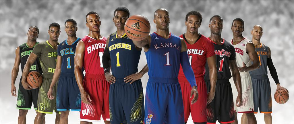 e2c2cbc81 Adidas on Thursday unveiled basketball uniforms that 10 schools will wear  in this year s NCAA postseason
