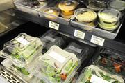 "Healthy organic options in the Hawaiian Airlines employee cafeteria, also known as ""the lunchbox,"""