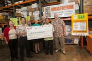"Representatives from Safeway, Times Supermarkets, Kokua market and other participating retailers and Kraft Foods Group in Hawaii present a check for $219,968.39 to the Hawaii Foodbank. The money was raised through Kraft's ""Check-Out Hunger"" campaign between Nob. 4 and Jan. 15. From left, Polly Kauahi, Hawaii Foodbank; Clayton Eto, Safeway; Carl Fukushima, Safeway; Lynette Larson, Kokua Market; Bob Stout, Times Supermarket; Gerald Shintaku, Kraft Foods Group in Hawaii; and Dick Grimm, Hawaii Foodbank."
