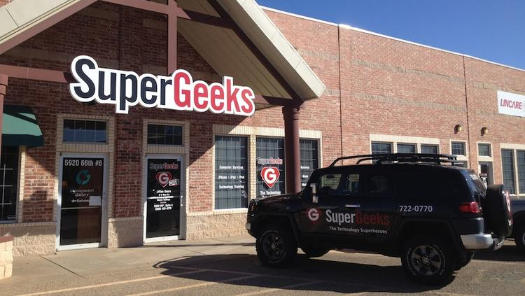 Hawaii-based SuperGeeks' office in Lubbock, Texas, is seen in this file photo. Founder and Chief Geek James Kerr is selling the company's Kapolei service center for $40,000.