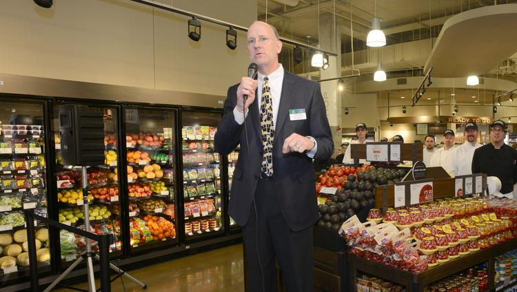 Tres Lund at the Lunds and Byerly's Kitchen grand opening in Wayzata.