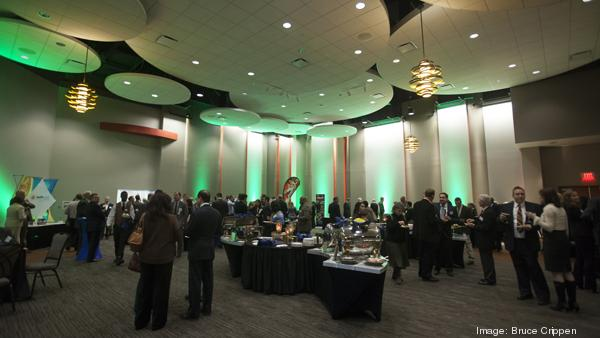 Green Business Awards honorees mingled before the event at the  Sharonville Convention Center Thursday evening.
