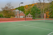 19217 Brookhollow Drive: The home features a pool, tennis court and gazebo.