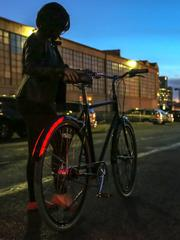 Revolights' fender-mounted bike lighting systems light up the night.