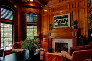 16702 Wills Terrace: The home features crown custom profile casing and has four fireplaces.