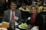 Randy Wisthoff, director of the Kansas City Zoo, and Laura Berger of the Kansas City Zoo.
