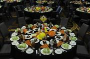 Guests' tables await their arrival at the Capstone Awards luncheon.