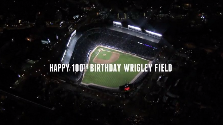 The Chicago Cubs have unveiled a new TV spot to celebrate the 100th anniversary of Wrigley Field.