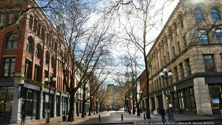 The London Plane, one of chef Matt Dillon's new ventures, is at the corner of South Main and Occidental in Pioneer Square (building on left).  At the other end of Occidental, Dillon has The Little London Plane and Bar Sajor.