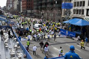 Boston Marathon on Of Two Explosions That Hit Near The Finish Line Of The Boston Marathon