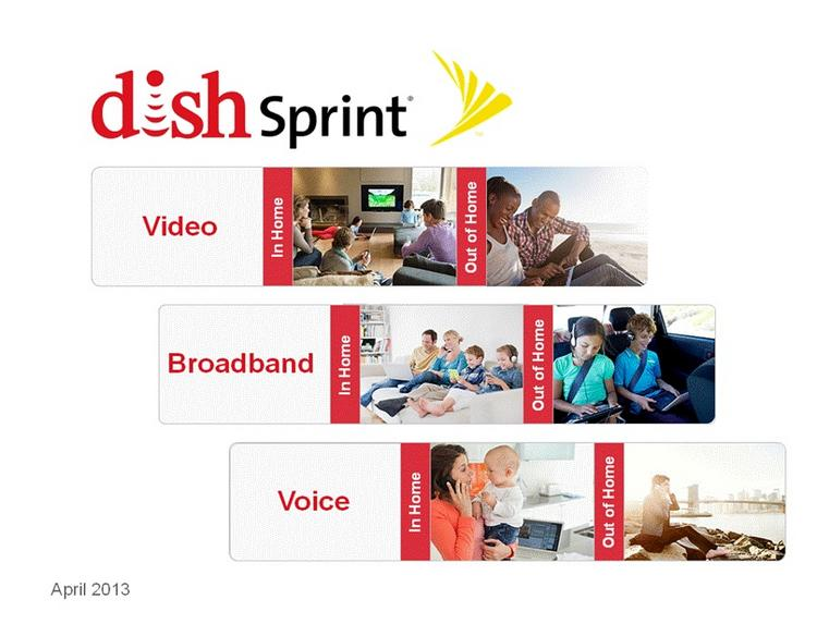 A Dish Network illustration filed with the SEC shows services the company hopes to provide after acquiring Sprint Nextel.