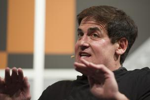 Mark Cuban, shown here at SXSW, is promoting a new privacy app called Cyber Dust that takes on Snapchat with its promise of disappearing text messages and photos.