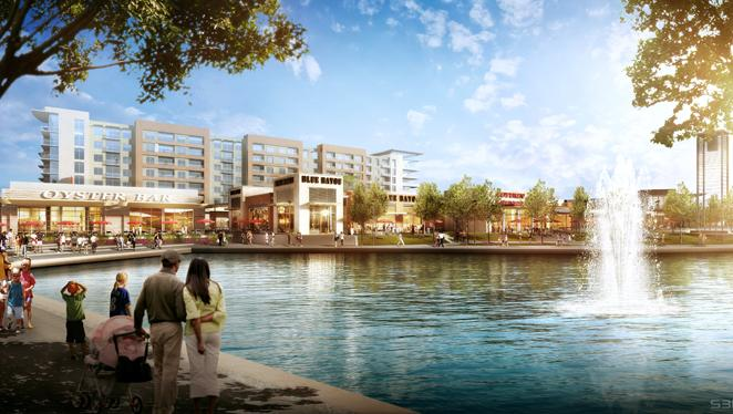Restaurant Row At Hughes Landing On Lake Woodlands Signed Its Final Tenant Blue Fish
