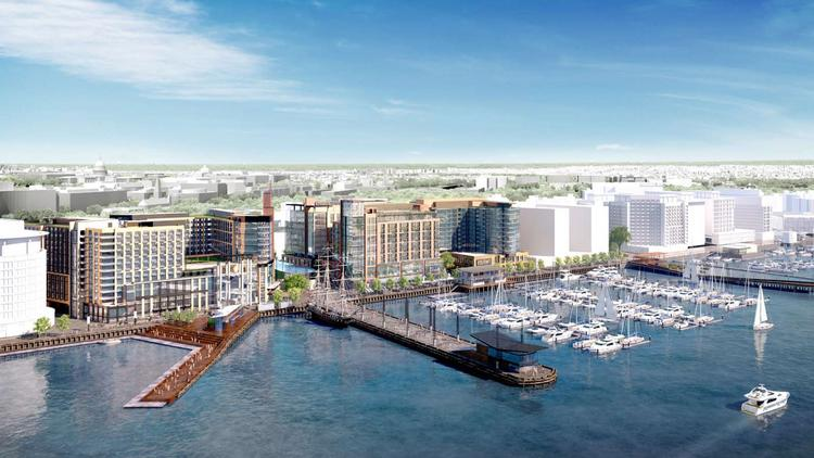 PN Hoffman was issued a foundation permit for The Wharf's first phase.