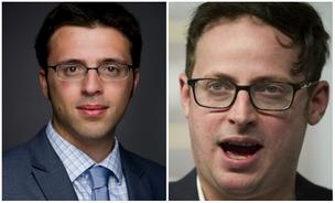 Dueling wonks: Ezra Klein (left), Nate Silver (right).