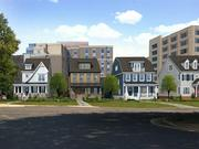 The Schupp Cos. will construct four new homes on 16th St. N, behind the planned Hyatt Place hotel, to buffer the communities behind the commercial project.