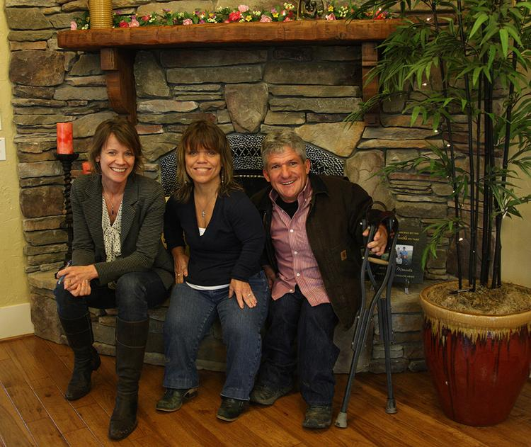 """That's me, Suzanne Stevens, with Matt and Amy (center) Roloff, stars of the TLC show """"Little People, Big World."""""""