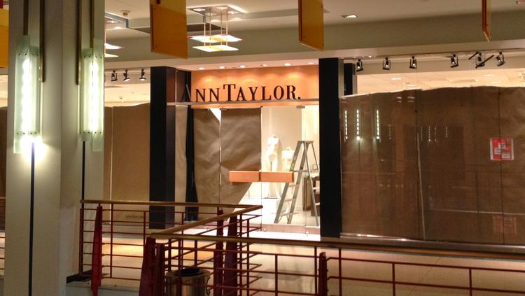 The Ann Taylor store in downtown Minneapolis' RBC Plaza has closed.