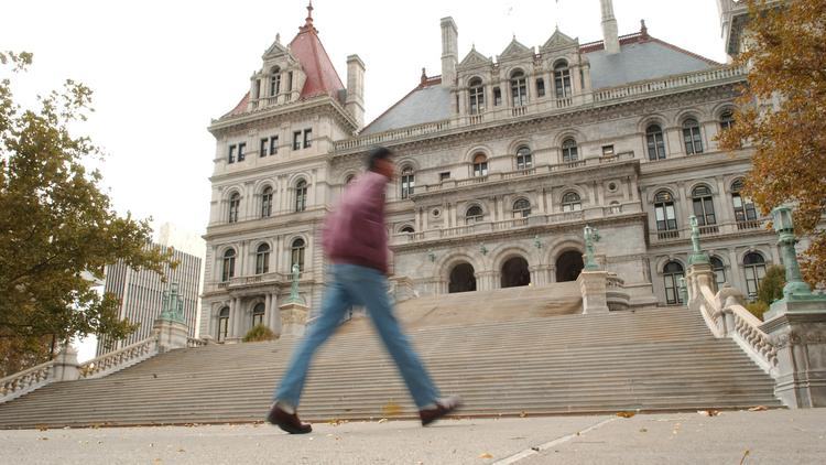Fast-food workers continue to lobby lawmakers in Albany to increase New York's minimum wage from $8 an hour to $10.10 an hour.