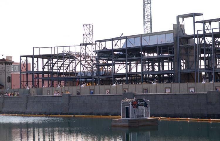 Construction at Universal Orlando's Wizarding World of Harry Potter is taking shape